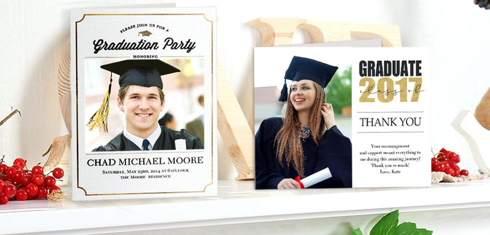Personalised Graduation Announcements, Invites & Congratulations